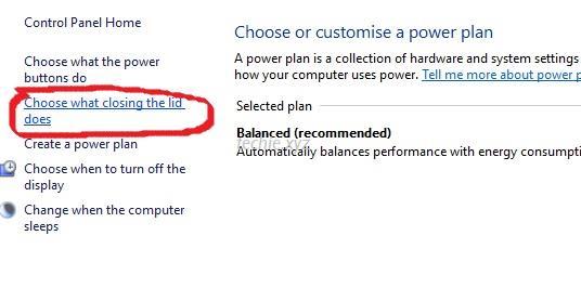 Mengatur efek ketika layar laptop ditutup