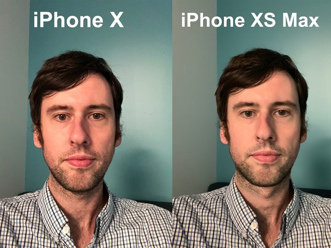 Hasil foto selfie iPhone XS vs iPhone X Antonio Villas-Boas di cahaya redup