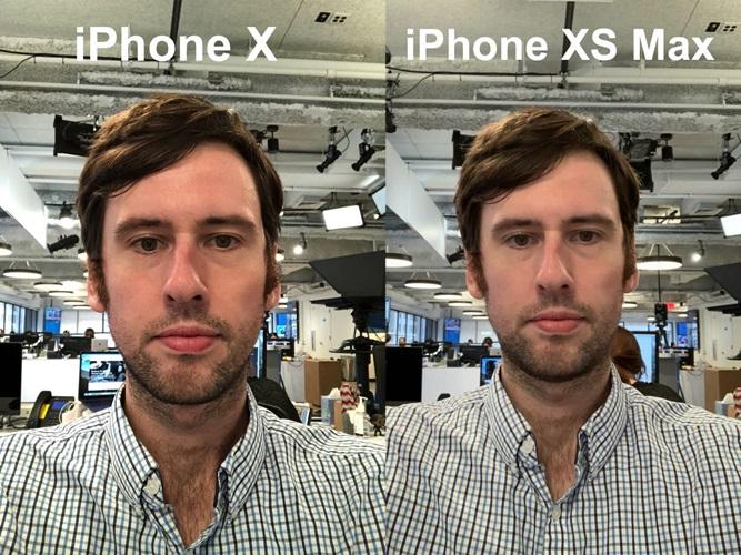 Hasil foto selfie iPhone XS vs iPhone X Antonio Villas-Boas di dalam kantor