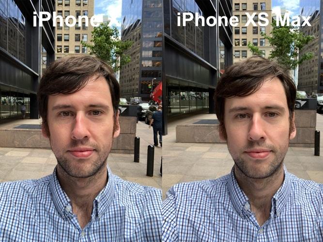Hasil foto selfie iPhone XS vs iPhone X Antonio Villas-Boas di luar ruangan cahaya cukup