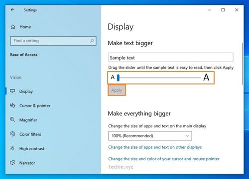 Cara Mengganti Ukuran Font di Windows 10