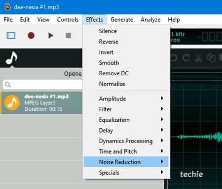 efek audio ocenaudio