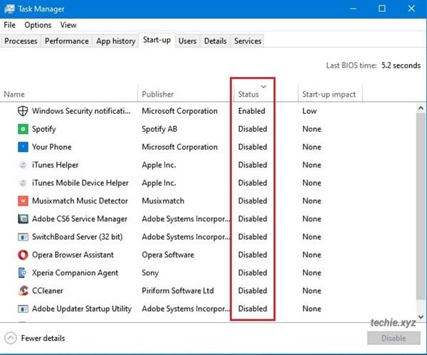 Mengatur aplikasi yang berjalan saat Windows Start-up melalui Task Manager