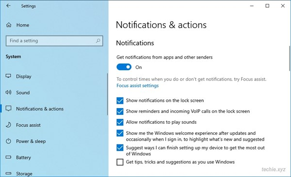Mematikan fitur tips, tricks and suggestions Windows 10