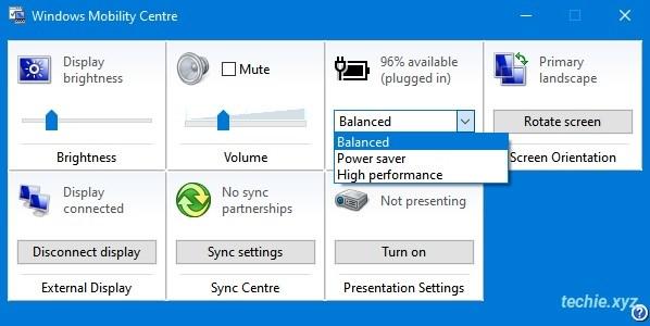 Mengatur Power Plant di Windows Mobility Centre