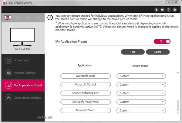 Custom Picture Mode Untuk Setiap Apliakasi di LG 22MK600M